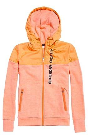 6a9a2afcdcf0c Superdry Superdrysporthybridjacket Veste de Sport Femme: Amazon.fr: Vêtements  et accessoires