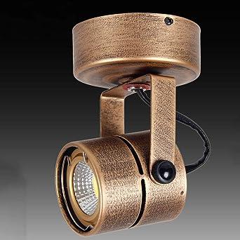 Fofofs Color de bronce Vintage Proyectores LED Cabeza simple Techo ...
