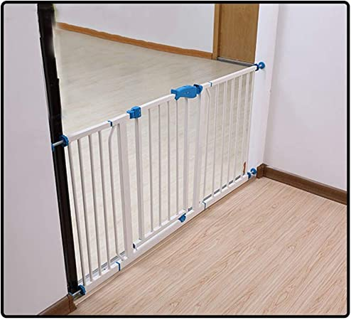 QIANDA Barrera Seguridad Niños Protector Escaleras Bebe Ideal for Niños Y Mascotas Simple for Seguro Puerta De Metal, Adecuado for Espacios De 70-202cm (Color : White, Size : 170-177cm): Amazon.es: Hogar