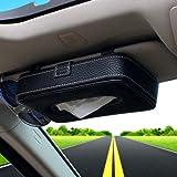 HerMia 車 ティッシュ 車用ティッシュボックス 車用ティッシュカバー ティッシュ ケース 車 便利 車用品 高級感 (ブラック-1)
