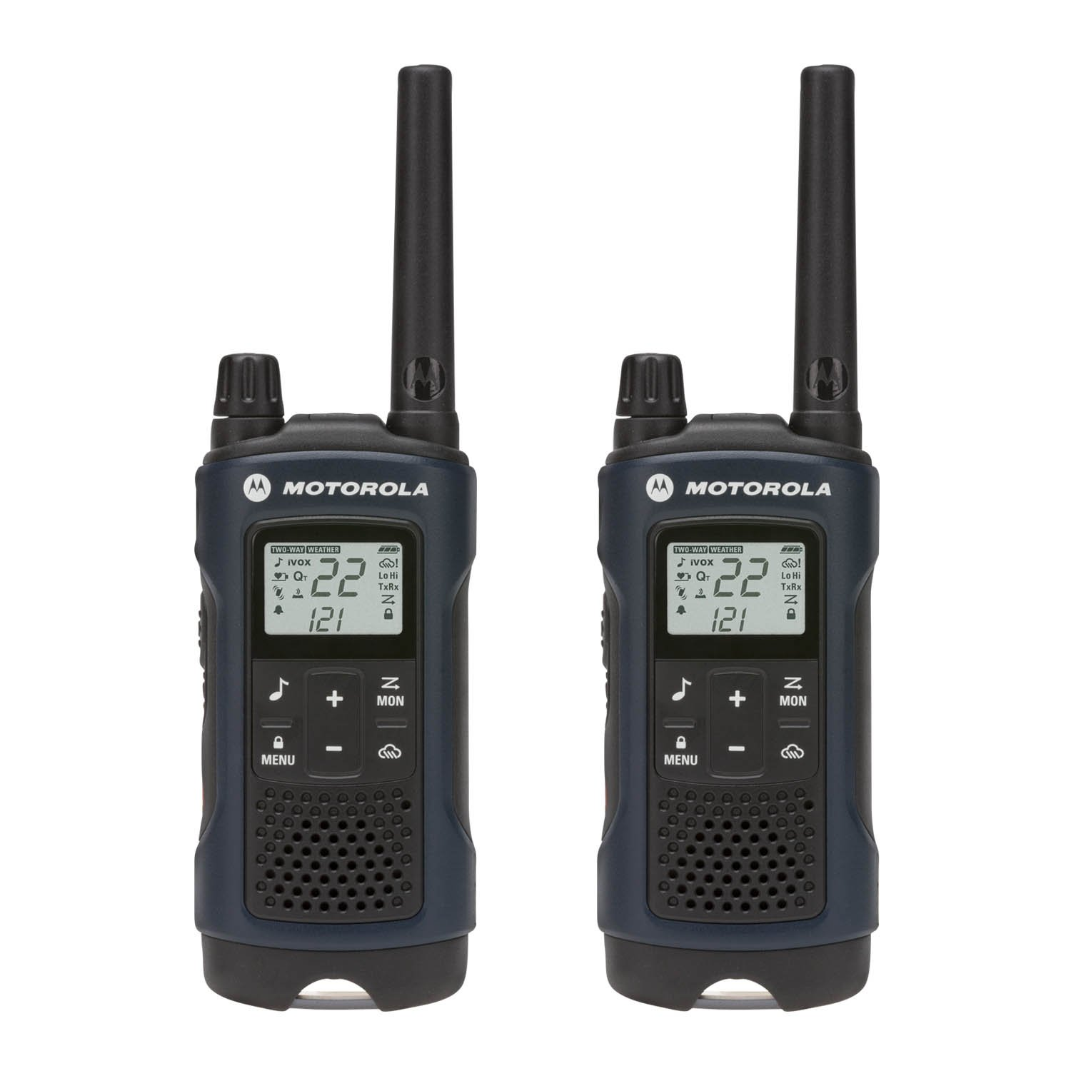 Motorola Talkabout T460 Rechargeable Two-Way Radio Pair (Dark Blue)