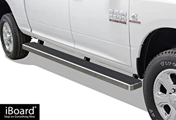 APS IBDY3741 Aluminum Silver 6 inches Third Generation 6-Inch Running Boards Side Step for Selected Dodge Ram 1500 Crew Cab