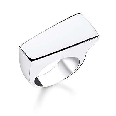 d47c2cd888a1 Thomas Sabo Women Ring Classic Bar 925 Sterling Silver TR2219-001-21   Amazon.co.uk  Jewellery
