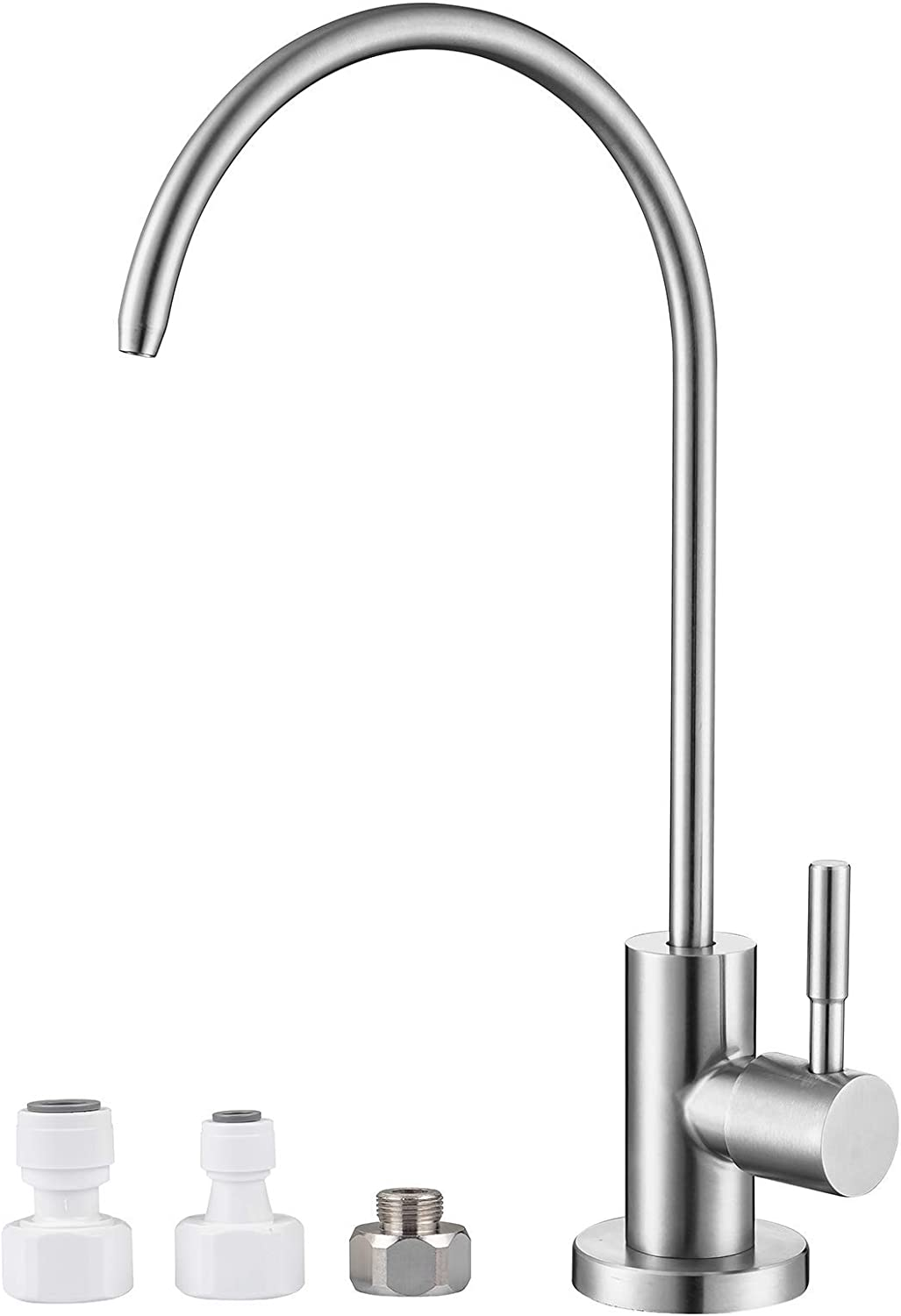 MIAOHUI Reverse Osmosis Faucet, Drinking Water Faucet Fits Most Water Filtration Systems, Modern RO Faucet Kitchen Filtered Water Faucet, Non-Air Gap, Lead-Free, Stainless Steel
