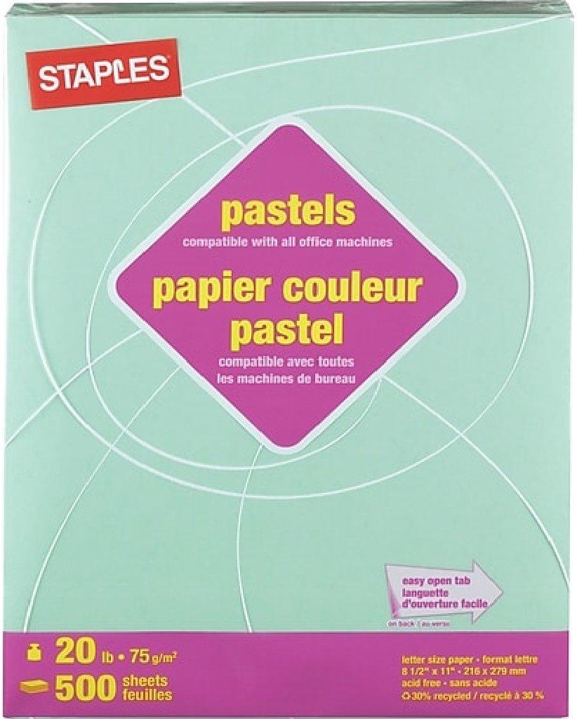 Heftklammern Pastells gefärbtes Papier, 21,6 x 27,9 cm cm cm grün, 500 Blatt, B007H1VUPO | Großhandel  764397