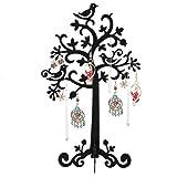 Dazone® Présentoir à Bijoux Arbre en métal Support pour Ranger les Boucles d'oreilles Colliers(Noir)