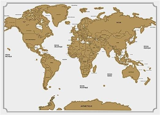 Atmosphera - Póster del Mapa del Mundo para rascar (82 x 59 cm ...