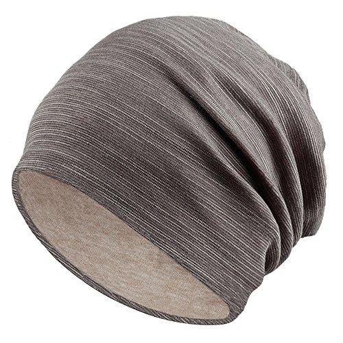 Unisex Men Women Cool Cotton Beanie Slouch Hip-hop Winter Summer Hat (Khaki)