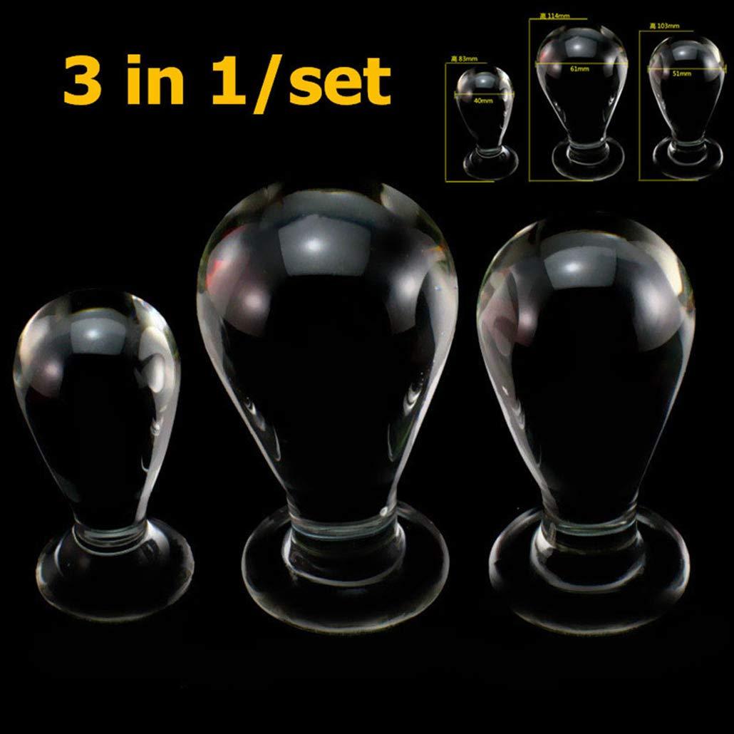 Natural Glass Ď`ǐld`o with Huge Smooth Double-Ended Body Safe Â'ňäl Ď`ǐld`o for Female Men
