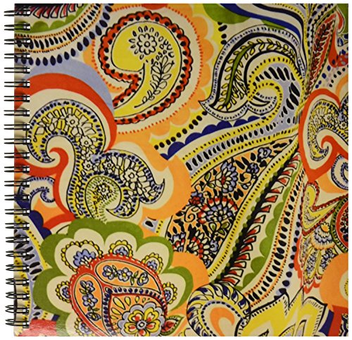3drose-db-50864-1-60s-orange-blue-green-yellow-paisley-drawing-book-8-by-8-inch