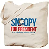 CafePress - Snoopy American Hero - Natural Canvas Tote Bag, Cloth Shopping Bag