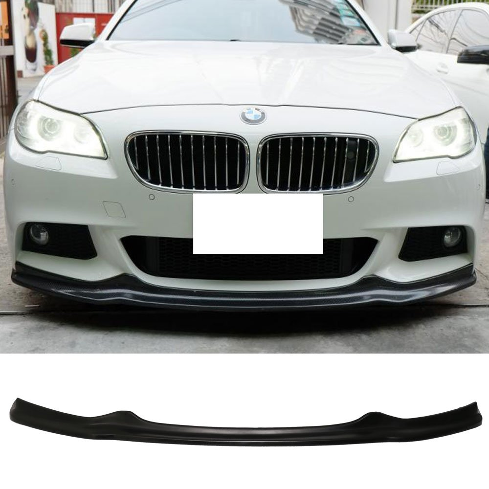 Front Bumper Lip Fits 2011-2016 BMW F10 5 Series| AK Style PU Front Lip Finisher Under Chin Spoiler Add On by IKON MOTORSPORTS | 2012 2013 2014 2015 by IKON MOTORSPORTS