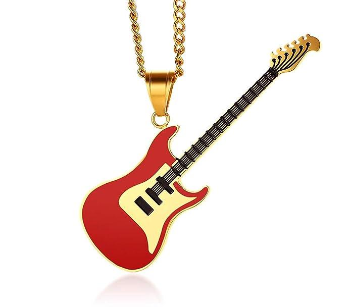 Randell Guitarra de Acero Inoxidable Reproductor de Música Amante ...