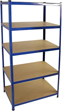 Werkstattregal Schwerlastregal Lagerregal Steckregal Regal Blau 200x100x50 cm