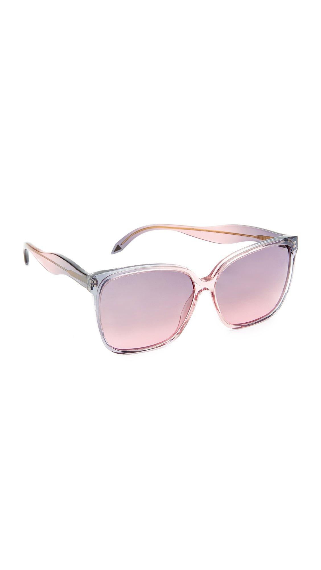 Victoria Beckham Women's Fine Square Wave Sunglasses, Wash Dove Pink/Purple, One Size