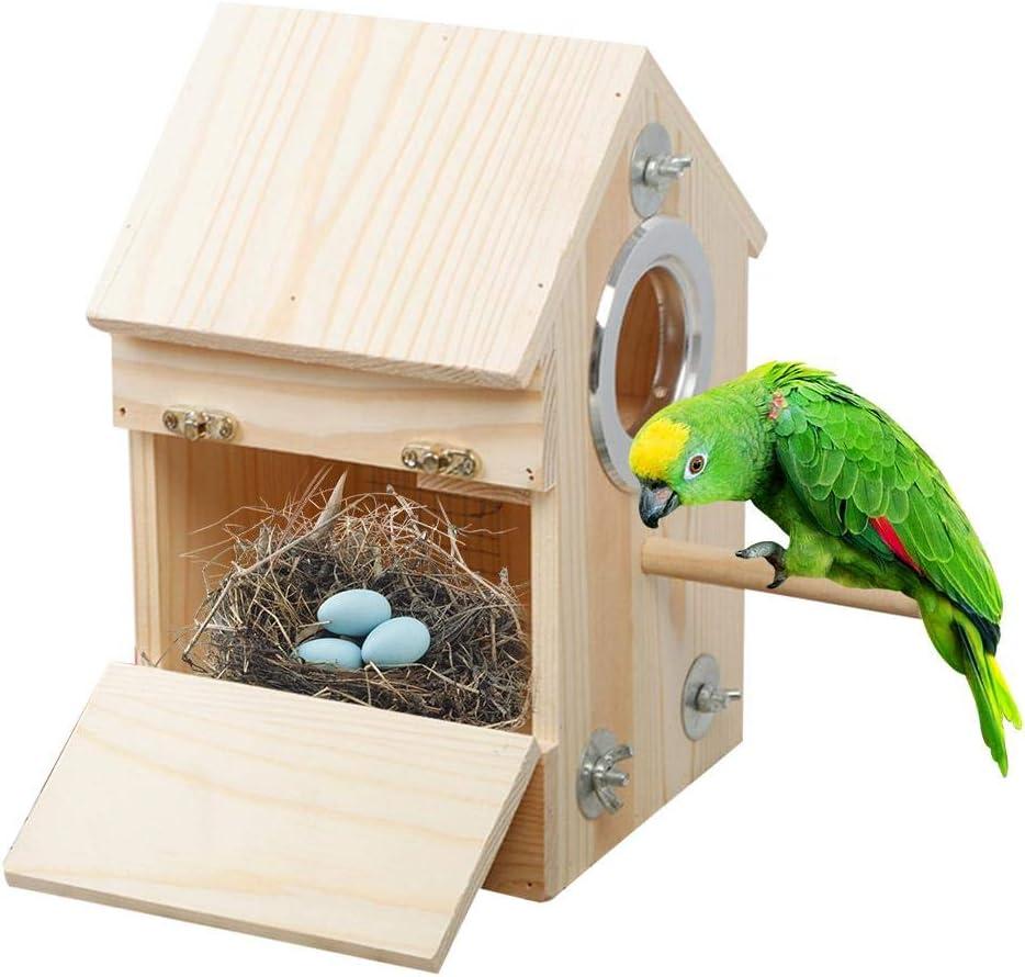 josietomy - Nido de pájaros para casa de Loro, Nido de pájaros, Nido de Madera, Nido para pájaros, comedero para pájaros, incubador Parrot, 16 16 16 26 cm