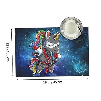 Amazon.com: Coolfun Dabbing Ninja Unicorn Girls Blue Galaxy ...