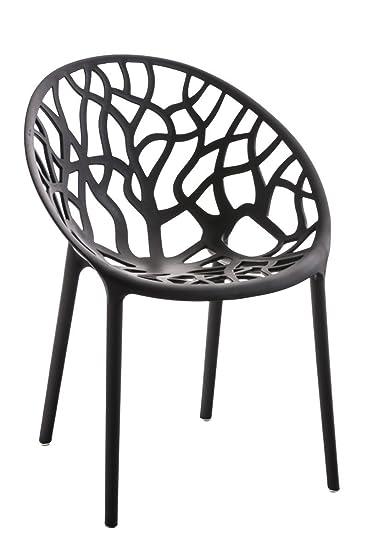 Gartenstuhl design  SIKALO Gartenstuhl aus Kunststoff stapelbar, modernes Design und ...