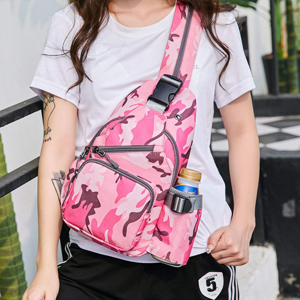 XDD Fashion Trend Chest Bag Shoulder Bag Messenger Bag Anti-Theft Chest Bag Travel Bag Small Backpack Men and Women,A