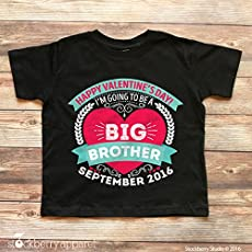 Amazon Com Valentine S Day Big Brother Announcement Shirt Pregnancy
