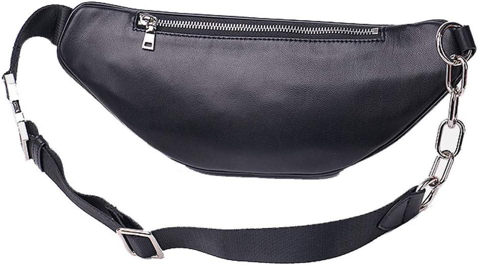 LLDDP Backpack Womens Pocket Chain Chest Bag Leather Mens Sheepskin Shoulder Diagonal Pocket Bag Folder