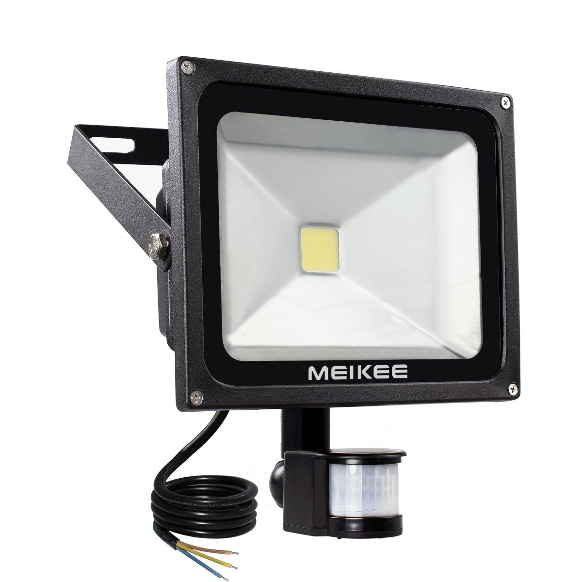 MEIKEE 30W LED Strahler Scheinwerfer Fluter Licht Floodlight Außenstrahler  Wandstrahler Schwarz Aluminium IP65 Wasserdicht AC 85