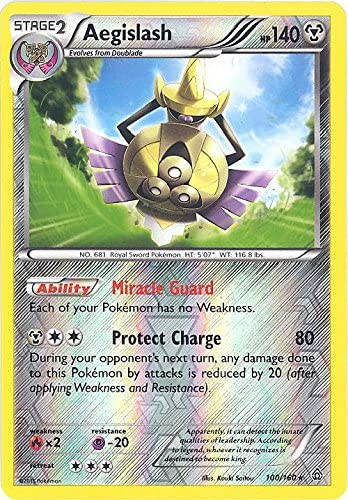 Aegislash 100//160 Primal Clash Rare Holo Mint Pokemon Card