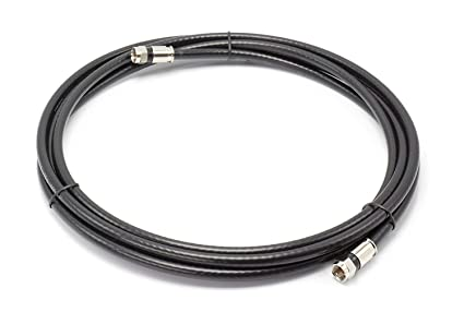 THE CIMPLE CO - 20 Feet, Black RG6 Coaxial Cable (Coax Cable)