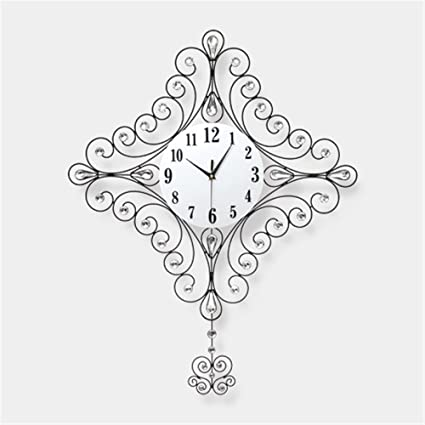 Znzbzt Simple Creative Mute Wall Clock European Style Bedroom Quartz Clock,