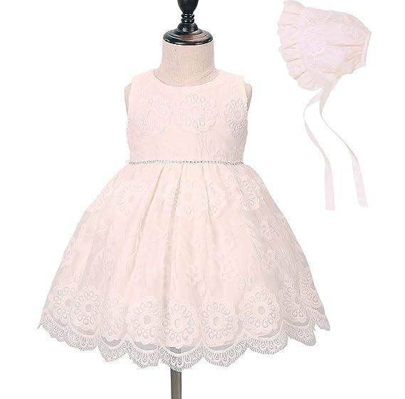 aacf7dd97e6e Amazon.com  Baby Girl Christening Dress Baptism Gown Princess Formal ...