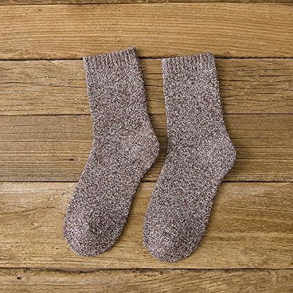 3 Doble plus de invierno de terciopelo, y Terry gruesos calcetines calcetines retro, cálida