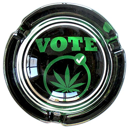 Vote-Marijuana-Weed-Round-Glass-Ashtray