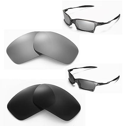 5da2f5a895235 Amazon.com  Walleva New Polarized Titanium + Black Lenses For Oakley X  Squared  Sports   Outdoors