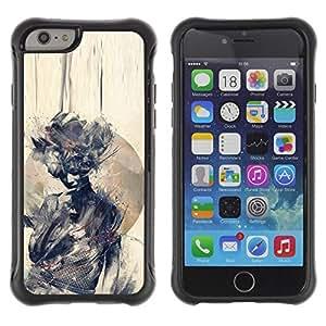 LASTONE PHONE CASE / Suave Silicona Caso Carcasa de Caucho Funda para Apple Iphone 6 PLUS 5.5 / Watercolor Woman Deep Meaning