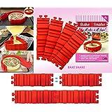 Aitsite Magic Bake Snake Silicone Cake Baking Mould Cake Pan Bake Mold Any Shape 4Pcs
