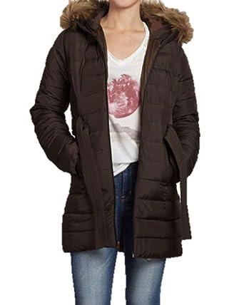 Hollister - Chaqueta - para Mujer Marrón marrón Small: Amazon.es: Ropa y accesorios