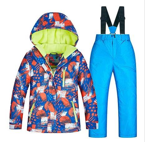 AQWWHY Chaqueta de esquí para niños y niñas Pantalones a ...