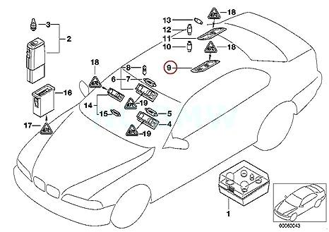 Amazon Com Bmw Genuine Interior Light Rear Left Automotive