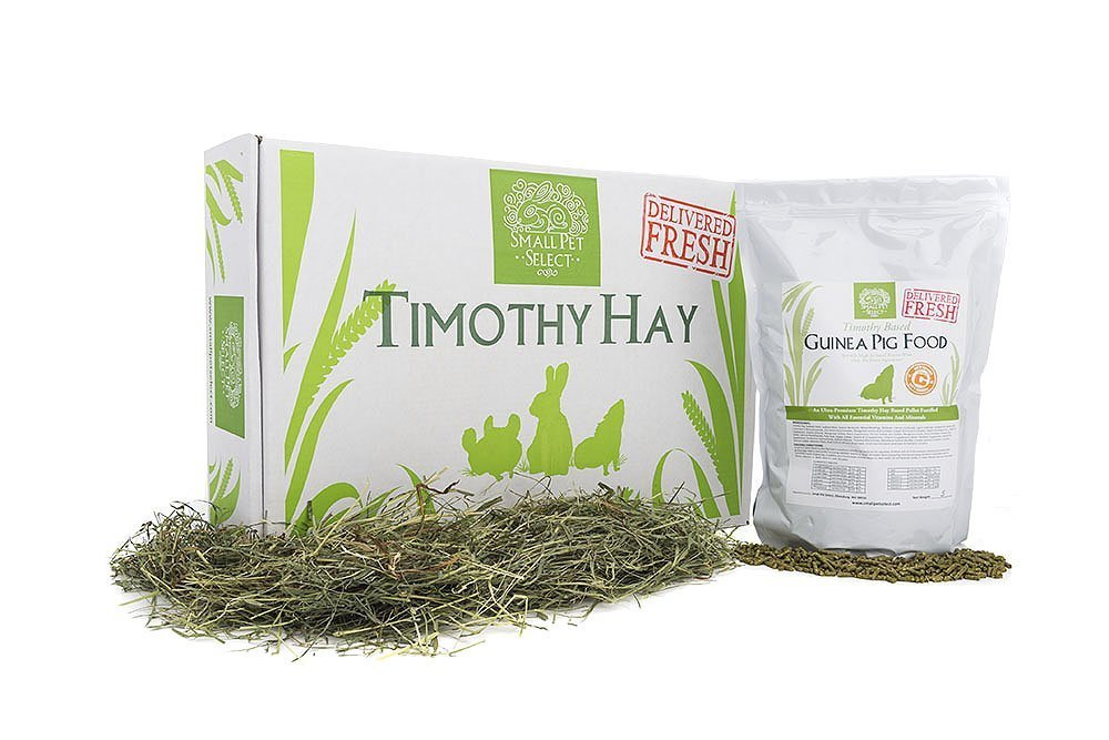 Small Pet Select Combo Pack, Timothy Hay (20 Lb.) And Guinea Pig Food (10 Lb.) by Small Pet Select