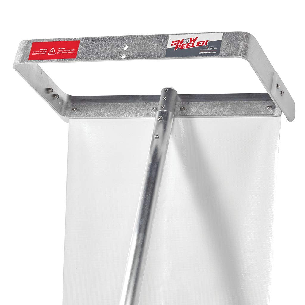SNOWPEELER! Easy-to-Use Rooftop Snow Removal Tool with 20-FT Handle, 9-FT Snow Slide and 18-in Cutting Blade. Aluminum and Stainless-Steel Construction. Less Time and Effort Than Snow Rakes! PolarMade 3000