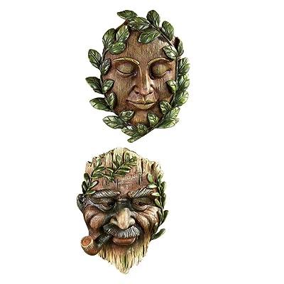 Vineyard Garden Tree Faces - Set of 2 : Garden & Outdoor
