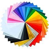 30x 30cm permanent sortiert selbstklebendem Vinyl Blatt (34Packungen) für Cricut, Silhouette Cameo, Craft, Buchstaben, Aufkleber und Schild Plottern
