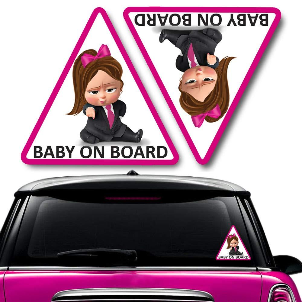 Biomar Labs/® 2 pcs Beb/é a Bordo Boss Pegatinas Vinilo Baby an Board Adhesivo Autos Coche Motos Ordenador Port/átil B 166