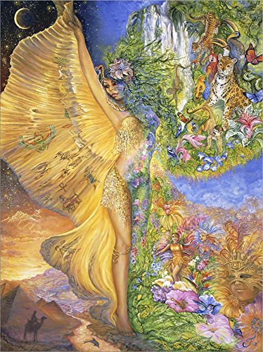 Goddess Between Realms by Josephine Wall Laminated Art Print, 9 x 12 inches