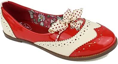Banned Dancing Days by Oxford Milana - Zapatillas para mujer, color rojo