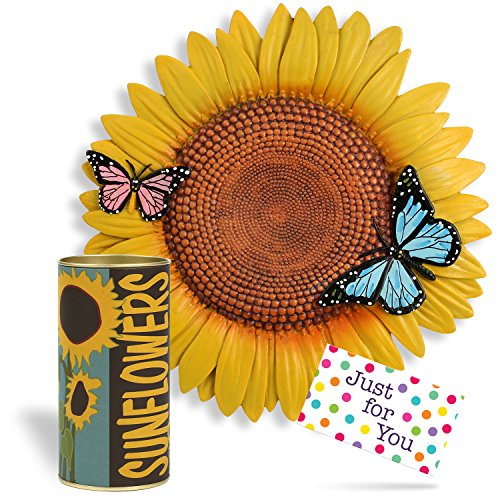 Gardener Gift Set Sunflower Stepping Stone with Growing S...