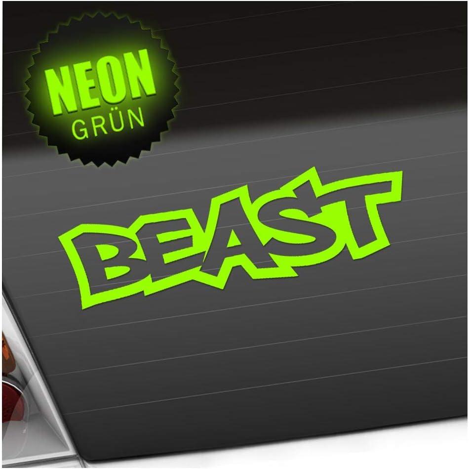 Kiwistar Beast 20 X 6 Cm In 15 Farben Neon Chrom Sticker Aufkleber Auto