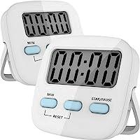 TECHVIDA Temporizador Digital de Cocina, Cronometro de Cocina, Uso Simple, Base Magnética, Dígitos Grandes, Temporizador…