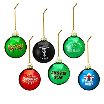 Amazon.com: WWE Legends 2017 6-Piece Ball Ornament Set: Home & Kitchen