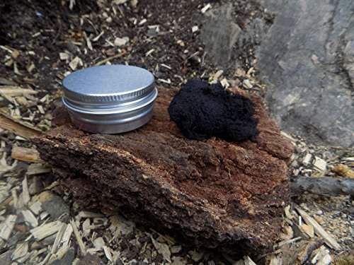 KonvoySG Char Cloth Presented In A Jute Bag Which Doubles As Emergency Tinder Contained Within an Aluminium Tin. For Use with a Magnesium or Flint and Steel Striker